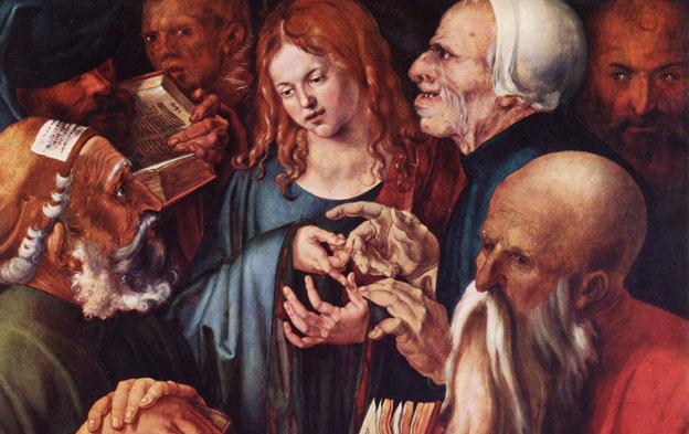 cuadro cristo entre los doctores de Durero.