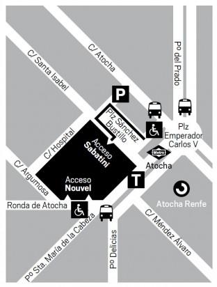 plano situación del museo reina sofía