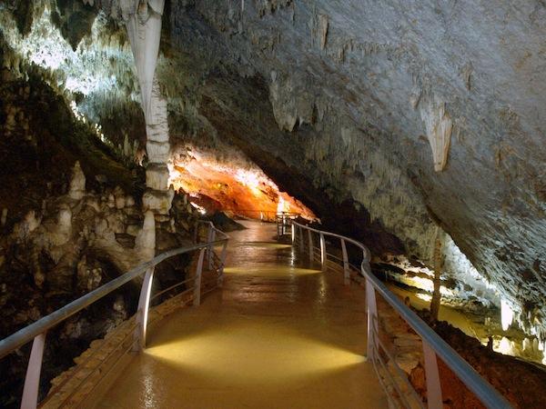 plataformas en la cueva de el soplao