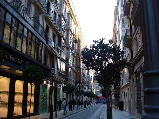 calle del centro histórico de palma