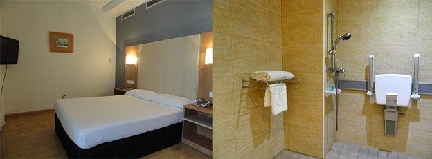 habitación y baño accesibles