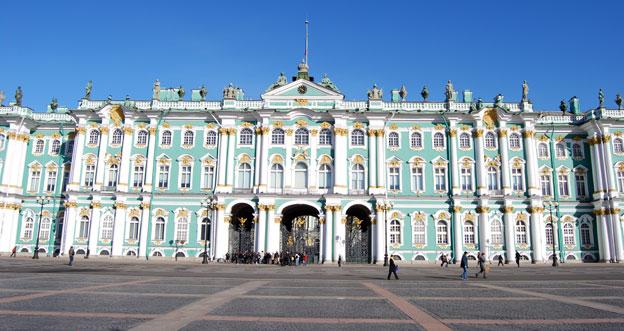 fachada del museo del hermitage