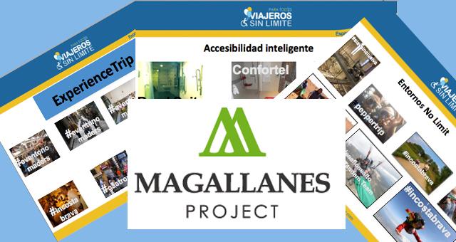 montaje de imágenes y logotipo de magallanes project