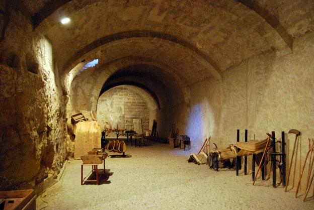 subterráneo del castillo