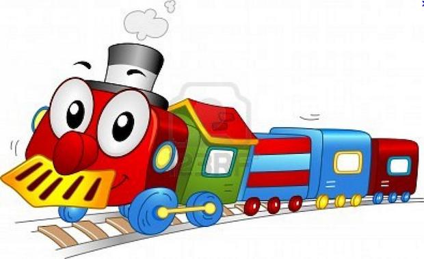 caricatura de una máquina y sus vagones