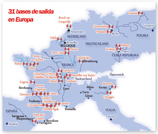 localizaciones en europa de barcos de turismo fluvial sin permiso