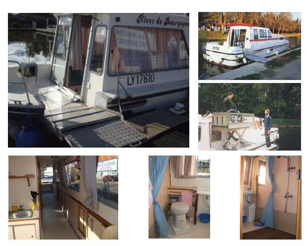 acceso interior y exterior barcos adaptados en francia