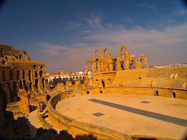 panorámica del anfiteatro de El Djem