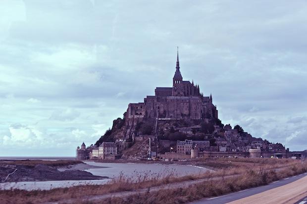 panorámica de mont saint michael en francia