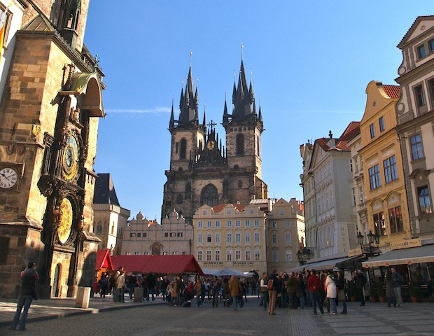 plaza de la ciudad vieja, en praga, República Checa