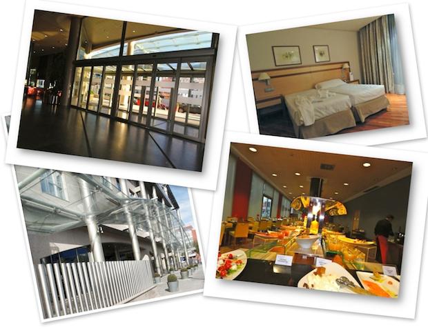 varias imágenes del hotel