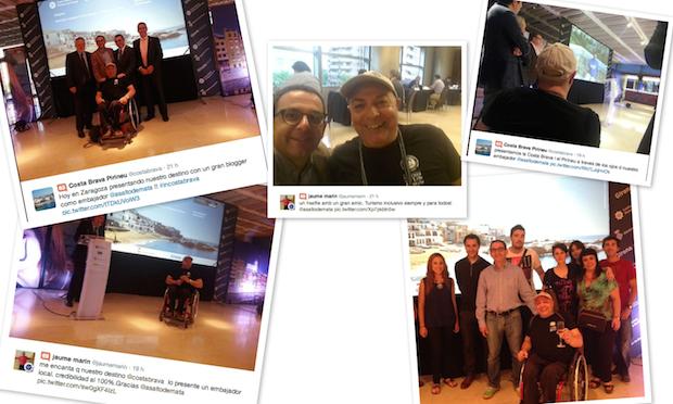 el viajero miguel nonay como embajador de accesibilidad de Girona