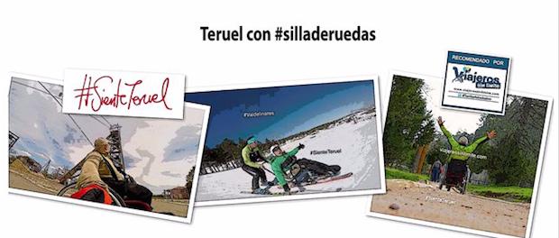 Miguel disfrutando en su silla de ruedas por la provincia de Teruel