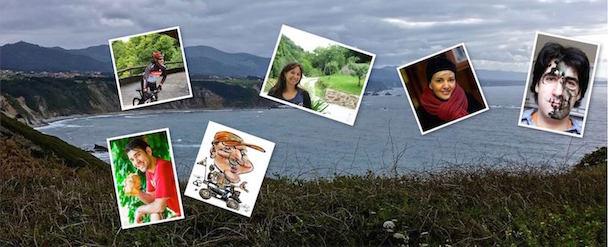 la costa asturiana con fotos de los participantes en el experience trip