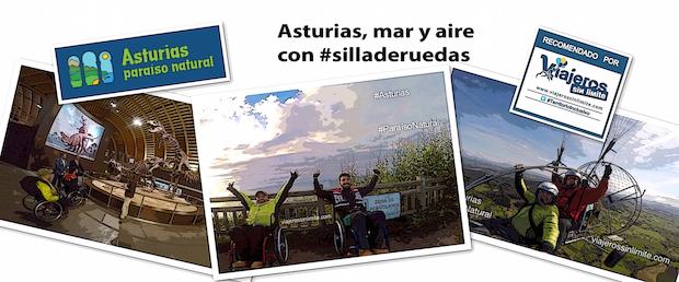 imágenes de dos bloggers de viajes en silla de ruedas por Asturias