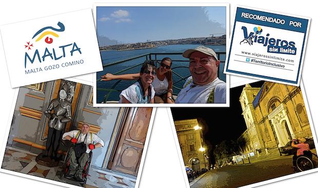 Miguel en silla de ruedas en La Valletta