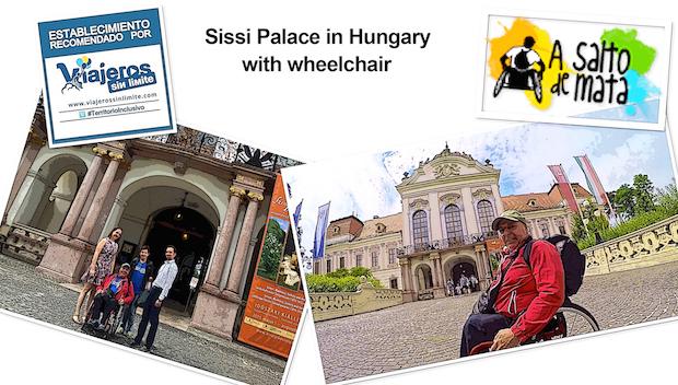 nuestro viajero con silla de ruedas en el Palacio de Sissi
