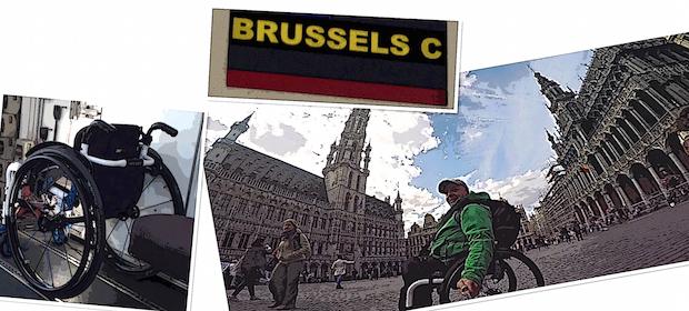 imágenes de Bruselas y letrero del Aeropuerto de Charleroi