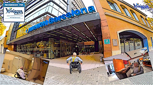 imágenes del hotel y miguel con su silla de ruedas
