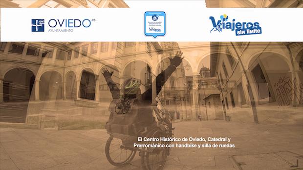 Miguel en su handbike por Oviedo