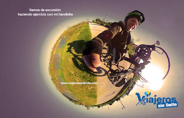 Miguel en su handbike
