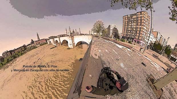 Miguel junto al puente de piedra