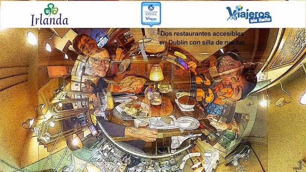 Collage de Miguel y Eva en los restaurantes
