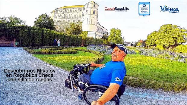 Miguel en el castillo de Mikulov