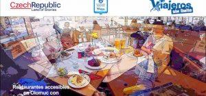 collage de miguel y eva en dos restaurantes