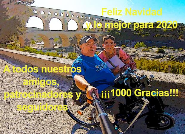 Miguel y Eva en le Pont du Gard