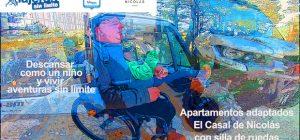 Miguel junto a un vehículo de aventura del apartamento