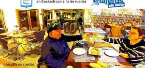 Miguel y Eva cenando en el hotel
