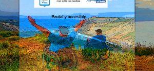 Miguel en Cabo Vidio con silla de ruedas