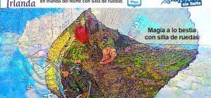 Collage de miguel y Eva a los pies de la Calzada del Gigante