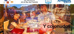 Collage de Miguel y Eva en los tres restaurantes