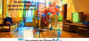 Collage del salón y miguel entrando con su silla de ruedas